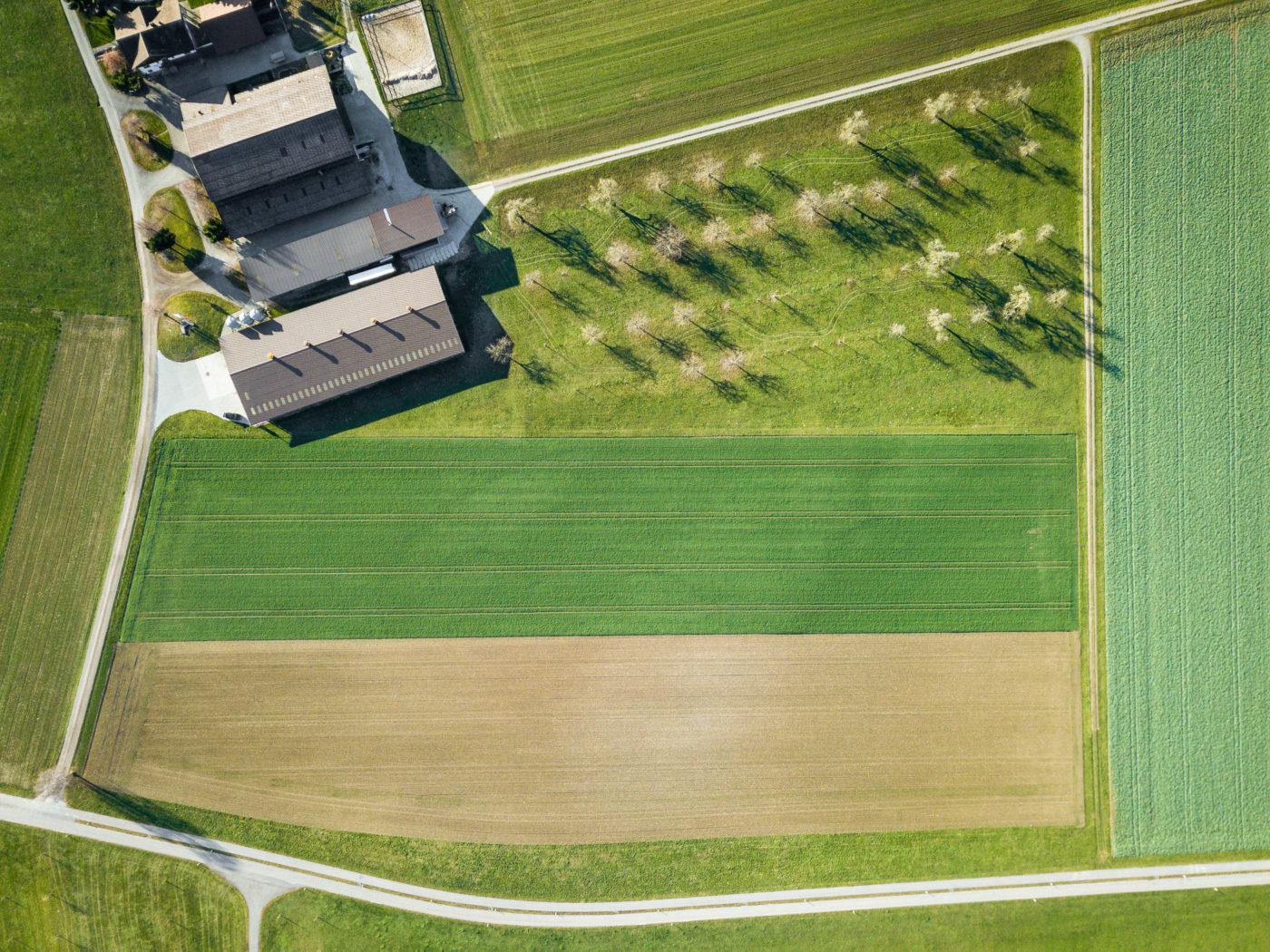 Luftbild des Lagerplatzes für das UFLA 2021